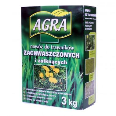 AGRA Nawóz granulat do trawników na chwasty 3 kg