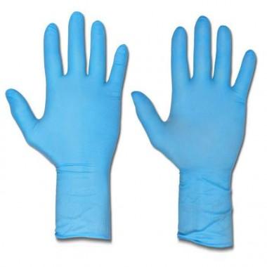 Rękawice niebieskie gumowe 100 sztuk